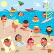 Beach — Stock Vector #26553991