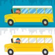 School Bus Driver — Stock Vector
