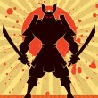 Stock Vector: Shadow Samurai