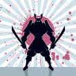Samurai Background — Stock Vector