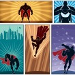 Stock Vector: Superhero Banners