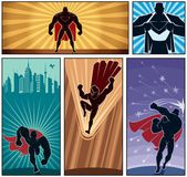 Superhero Banners — Stock Vector