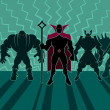 Supervillain Team — Stockvektor
