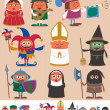 Stock Vector: Medieval People 2