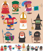 Medieval People 2 — Stock Vector