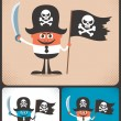 Pirate Businessman — Stock Vector