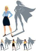 Woman Superhero Concept — Stock Vector