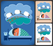 Insomnia — Stock Vector