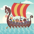 Viking Ship — Stock Vector #39798177