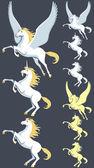 飞马座独角兽种马 — 图库矢量图片