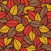 Leafs Seamless Pattern Autumn — Stock Vector