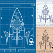 Rocket Blueprint Cartoon — Stock Vector #43761225