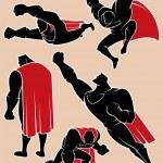 Superhero in Action 2 — Stock Vector #49362193