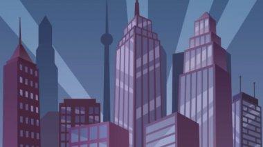 Superhero on Roof Loop — Stock Video