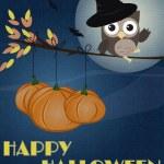 Owl Happy Halloween — Stock Vector #12533583