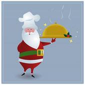 厨师圣诞老人 — 图库矢量图片