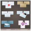 Envelope collection — Stock Vector