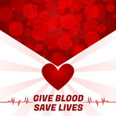 Give Blood, Save Lives — Stock Vector