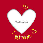 Place the photo of your love — Stock Photo