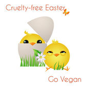 Happy Cruelty-free Easter — Stock Photo