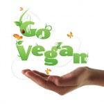 Go Vegan text — Stock Photo #24571657