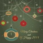 Stylish retro Christmas ornaments — Stock Photo #25081519