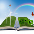 Environmental illustration for renewable energy — Stock Photo
