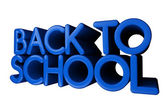 """3D, glossy """"Back to school"""" text — Stock Photo"""