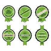 Set of bio badges — Stock Vector