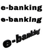 E-banking black 3D text — Stock Photo