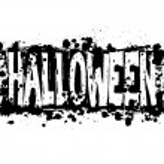Halloween grunge silhouette background — Stock Photo
