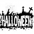 Halloween grunge silhouette background — Stock Photo