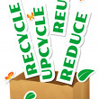 Reduce, Reuse, Upcycle, Recycle — Stock Photo