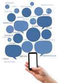 Astrologie Online-Websitevorlage auf Smartphone mit leerer Bildschirm — Stockfoto