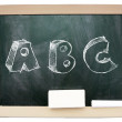 Blackboard with sketchy ABC written on it isolated — Stock Photo #44289855