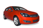 Red Compact Hybrid — Stock Photo