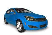 Blue Compact Hybrid — Zdjęcie stockowe