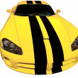 Постер, плакат: Yellow Racing Car