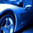 Stock Photo: Blue Tone Sportscar