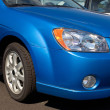 Stock Photo: Front End Of Blue Car