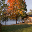 Stock Photo: Cabin on the Lake