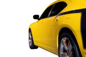 Boční pohled dolů svalové auto — Stock fotografie