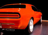 Orange Muscle Car — Stock Photo