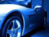 Blue Tone Sportscar — Stok fotoğraf