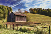 Old Tin Roof Barn — Stock Photo