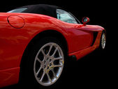 Red Sportscar Side View — Stok fotoğraf