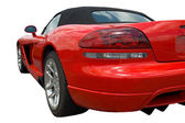Red sportscar form rear — Stock Photo