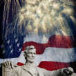 Abraham Lincoln Fireworks — Stock Photo