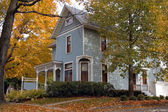 Blue Victorian House — Stock Photo