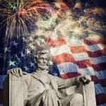 Постер, плакат: Abraham Lincoln Fireworks